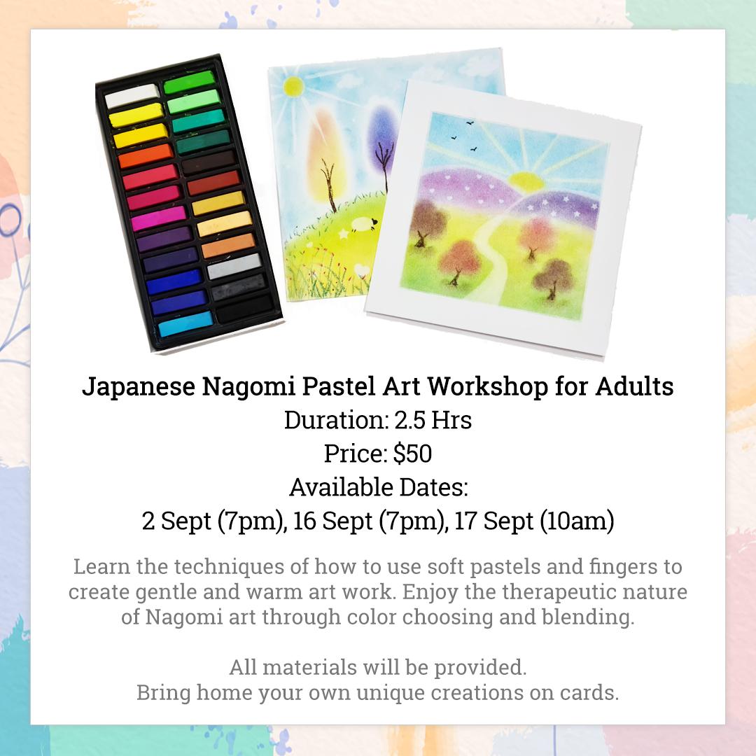 Japanese Nagomi Pastel Art Workshop for Adults