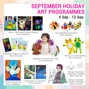 september holiday art programme 2021